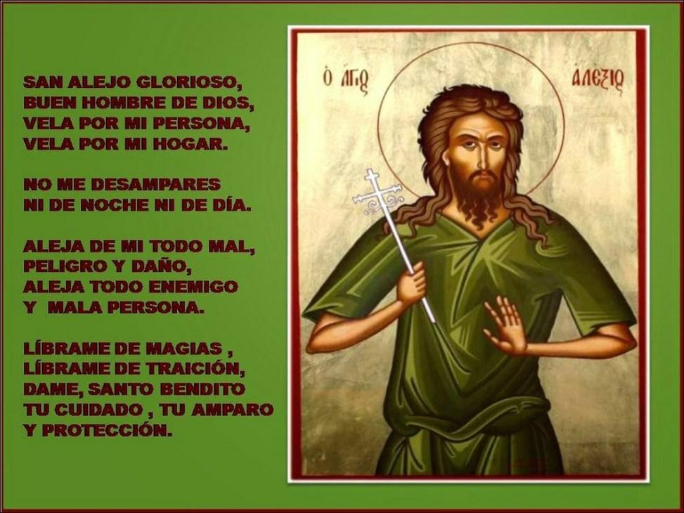 Oraci n a san alejo para alejar personas indeseables oraciona - Como alejar a una persona mala ...
