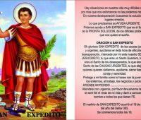 Oración a San Expedito para vencer las pruebas