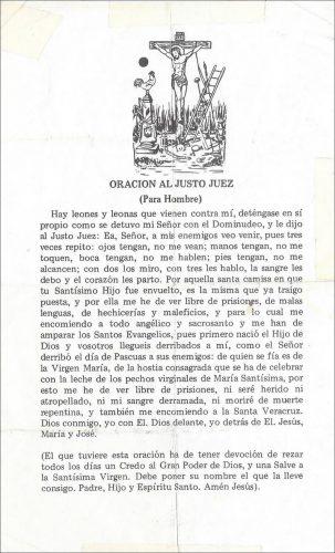 Oración para hombre al Justo Juez