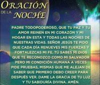 Oración a Dios para dormir