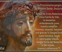 Oración a la Sangre de Cristo por los hijos