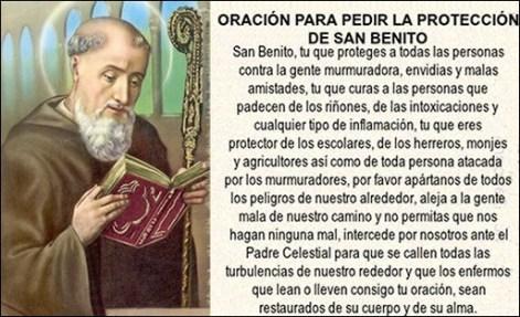 Oraci n a san benito para pedir su protecci n oraciona - Como alejar a una persona mala ...