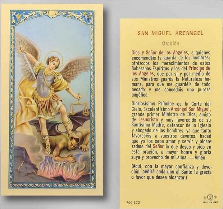 Oración a San Miguel Arcángel corta Oraciona