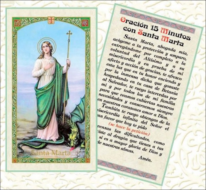 Oración A Santa Marta Para Casos Imposibles